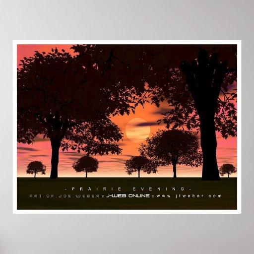 Prairie Evening Poster