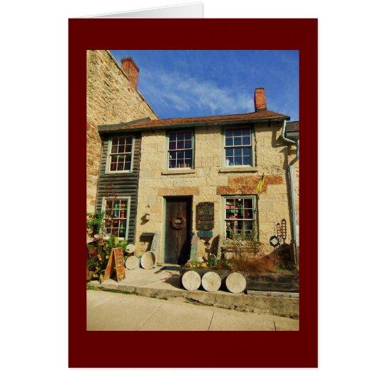 Prairie Oak Artican Facade with Burgundy Border Card