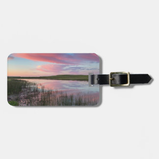 Prairie Pond Reflects Brilliant Sunrise Clouds Luggage Tag