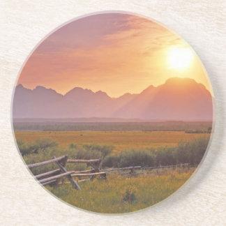 Prairie Ranch Sunset Beverage Coasters