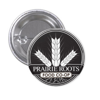 Prairie Roots Black and White Button