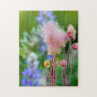 Prairie Smoke Wildflowers In Aspen Grove 2 Jigsaw Puzzle