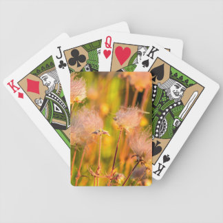 Prairie Smoke Wildflowers In Aspen Grove Bicycle Playing Cards
