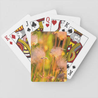 Prairie Smoke Wildflowers In Aspen Grove Playing Cards