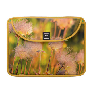Prairie Smoke Wildflowers In Aspen Grove Sleeve For MacBooks