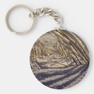Prairie snowscape, Saskatchewan, Canada Basic Round Button Key Ring
