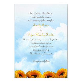 Prairie Sunflower Parents Inviting Wedding Invite
