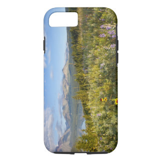 Prairie wildflowers and Lower Two Medicine Lake iPhone 8/7 Case