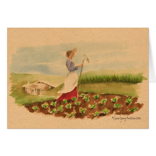 Prairie Woman Greeting Card