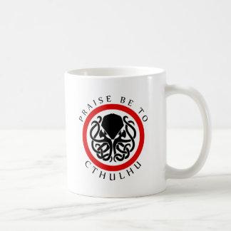 Praise Be To Cthulhu Basic White Mug