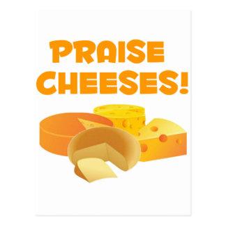 Praise Cheeses! Postcard