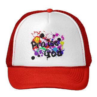 Praise God Paint Splatters Christian Wear Cap
