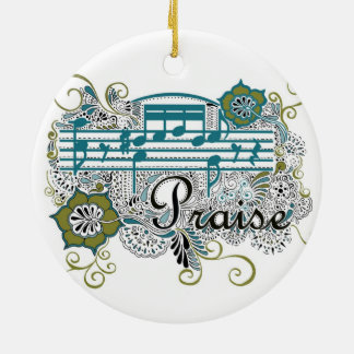 Praise Henna Design Christmas Ornament