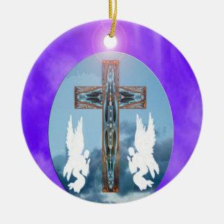 Praise Him Round Ceramic Decoration
