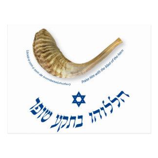 Praise Him with the blast of the horn - the shofar Postcards