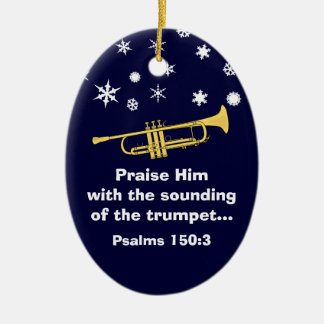 Praise Him With Trumpet Biblical At Christmas Christmas Ornament