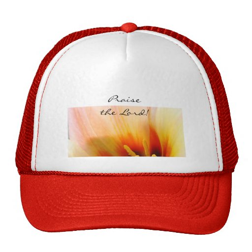 Praise the Lord! baseball cap ladies Tulip Flowers Mesh Hats