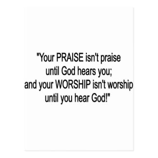 Praise & Worship Postcard