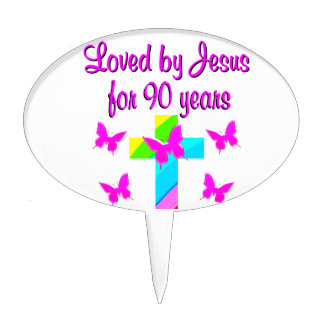 PRAISING GOD 90TH BIRTHDAY CAKE TOPPER