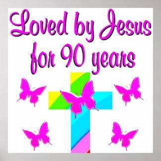 PRAISING GOD 90TH BIRTHDAY POSTER