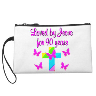 PRAISING GOD 90TH BIRTHDAY WRISTLET PURSE