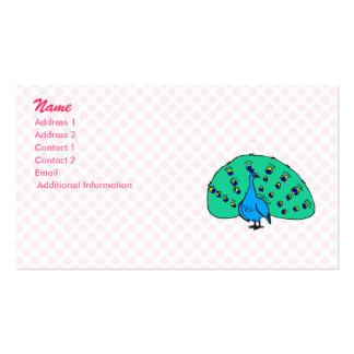 Pran Peacock Business Card Templates