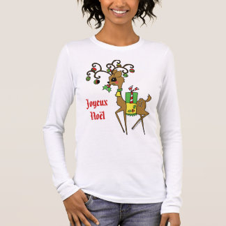 Prancer / Joyeux Noël Long Sleeve T-Shirt
