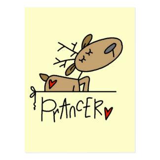 Prancer Reindeer Tshirts and Gifts Postcard