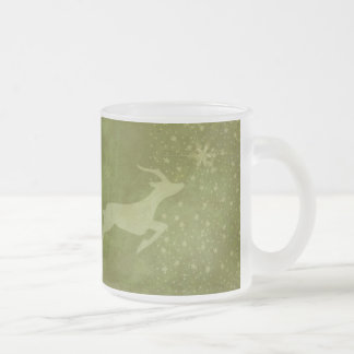 Prancer the Star Frosted Glass Coffee Mug