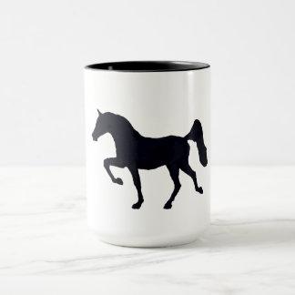 Prancing Arabian Horse Silhouette Mug