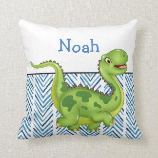 Prancing Dinosaur with Custom Monogram Cushion