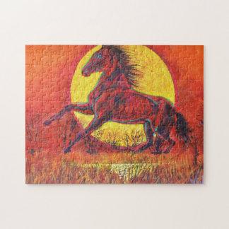Prancing horse and sun - Magic Puzzle