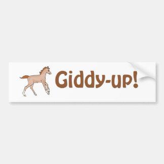 Prancing Pony Car Bumper Sticker