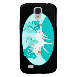 Prancing Unicorn in green forest Galaxy S4 Case