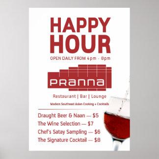 Pranna Happy Hour Poster Lighter Red