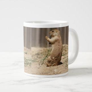 Prarie Dog Eating Grass Jumbo Mug