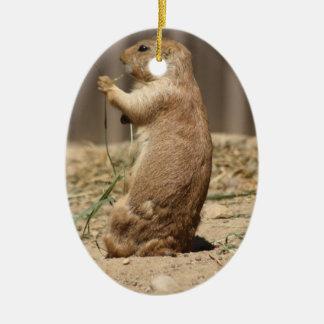 Prarie Dog Eating Grass Ornament
