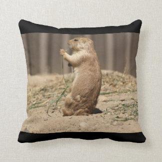 Prarie Dog Eating Grass Pillow