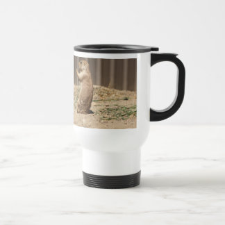 Prarie Dog Eating Grass Travel Mug