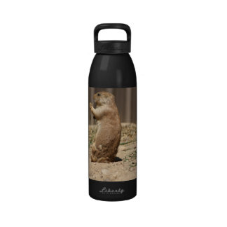 Prarie Dog Eating Grass Water Bottle