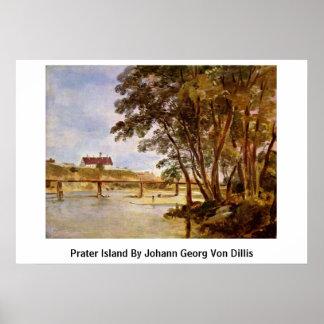 Prater Island By Johann Georg Von Dillis Print