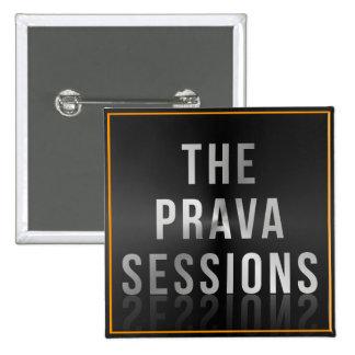 Prava Sessions Square Logo Button 2 Inch Square Button