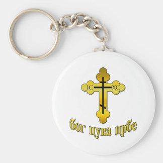 Pravoslavna Basic Round Button Key Ring