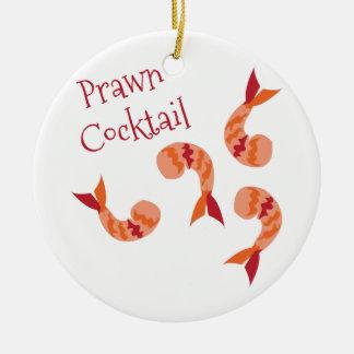 Prawn Cocktail Round Ceramic Decoration