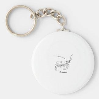 Prawn Logo Basic Round Button Key Ring