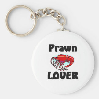 Prawn Lover Basic Round Button Key Ring