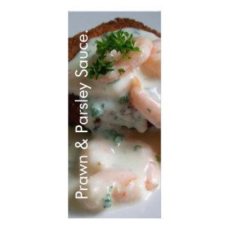 Prawn & Parsley Sauce Recipe Card Customized Rack Card