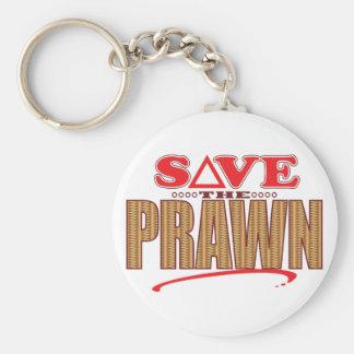 Prawn Save Basic Round Button Key Ring