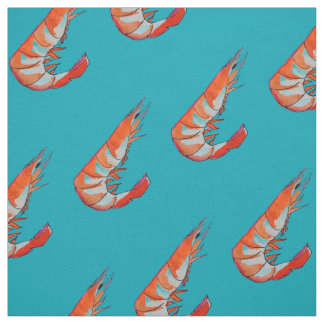 prawn / Shrimp seafood kitsch Fabric