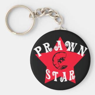 Prawn Star Advanced Basic Round Button Key Ring